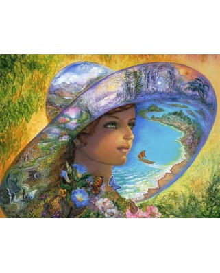 Puzzle Grafika - Josephine Wall: Hat of Timeless Places, 2.000 piese (51118)