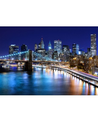 Puzzle Grafika - New York by Night, 1.000 piese (51704)