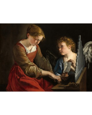Puzzle Grafika - Orazio Gentileschi: Saint Cecilia and an Angel, 1617/1618, 2.000 piese (56259)