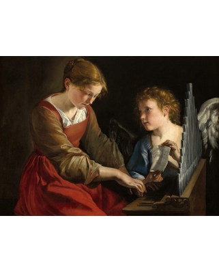 Puzzle Grafika - Orazio Gentileschi: Saint Cecilia and an Angel, 1617/1618, 300 piese (56261)