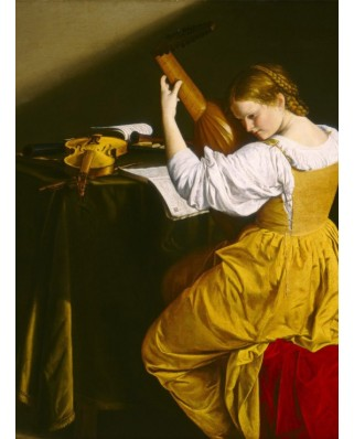 Puzzle Grafika - Orazio Gentileschi: The Lute Player, 1612-1620, 2.000 piese (56255)