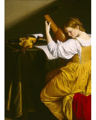 Puzzle Grafika - Orazio Gentileschi: The Lute Player, 1612-1620, 300 piese (56257)