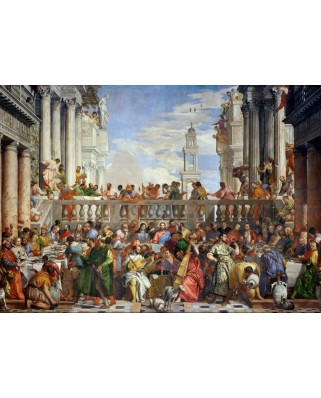 Puzzle Grafika - Paolo Veronese: The Wedding at Cana, 1563, 1.000 piese (51584)