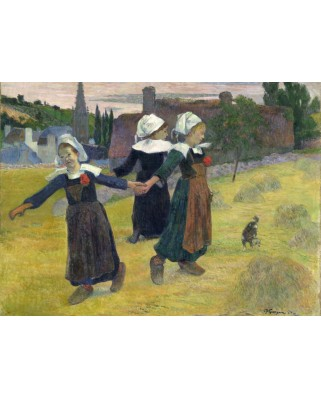 Puzzle Grafika - Paul Gauguin: Breton Girls Dancing, Pont-Aven, 1888, 300 piese (56327)