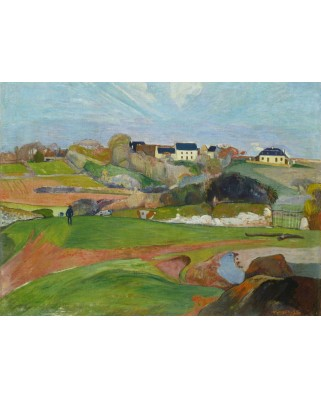 Puzzle Grafika - Paul Gauguin: Landscape at Le Pouldu, 1890, 300 piese (56351)