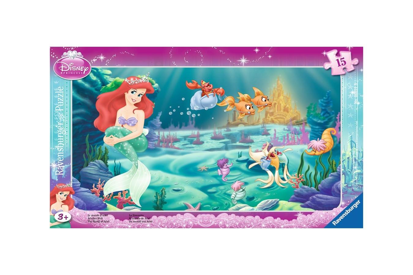 Puzzle Ravensburger - Printesa Ariel, 15 piese (06031)