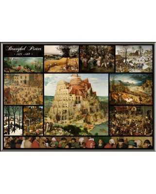 Puzzle Grafika - Pieter Bruegel: Collage - Pieter Bruegel the Elder, 1.000 piese (50742)