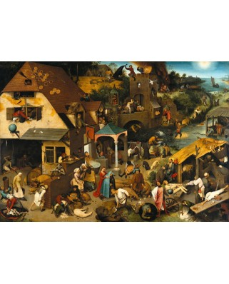 Puzzle Grafika - Pieter Bruegel: The Dutch Proverbs, 1559, 1.000 piese (49190)