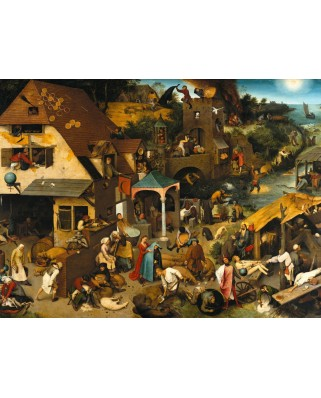 Puzzle Grafika - Pieter Bruegel: The Dutch Proverbs, 1559, 2.000 piese (49191)