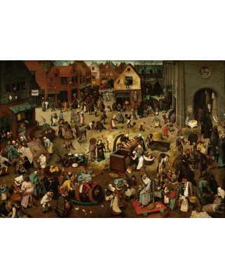 Puzzle Grafika - Pieter Bruegel: The Fight Between Carnival and Lent, 1559, 1.000 piese (49183)