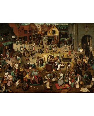 Puzzle Grafika - Pieter Bruegel: The Fight Between Carnival and Lent, 1559, 2.000 piese (49184)