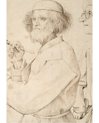 Puzzle Grafika - Pieter Bruegel: The Painter and the Buyer, 1565, 1.000 piese (63387)