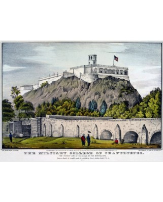 Puzzle Grafika - Poster Currier & Ives: Military College of Chapultep, 2.000 piese (46851)