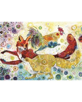 Puzzle Grafika - Sally Rich: Leaping Fox's, 2.000 piese (63583)