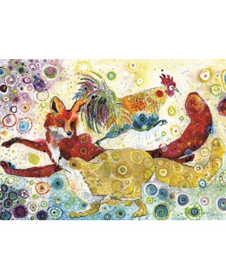 Puzzle Grafika - Sally Rich: Leaping Fox's, 500 piese (63586)