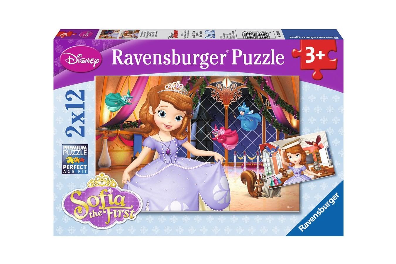 Puzzle Ravensburger - Printesa Sofia, 2x12 piese (07570)