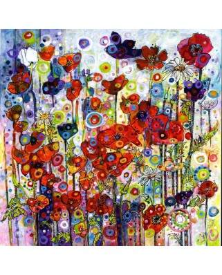 Puzzle Grafika - Sally Rich: Poppies, 1.500 piese (63670)