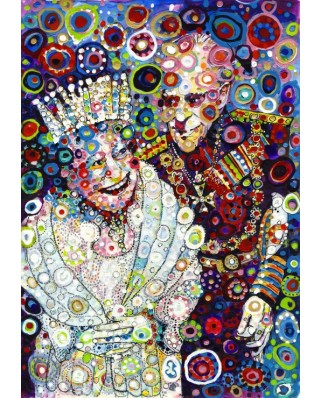 Puzzle Grafika - Sally Rich: The Queen and Prince Philip, 1.000 piese (63667)