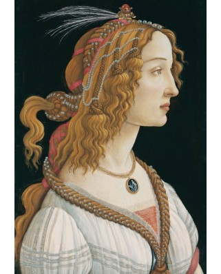 Puzzle Grafika - Sandro Botticelli: Portrait of a young Woman, 1494, 1.000 piese (53653)