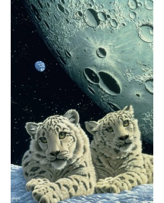 Puzzle Grafika - Schim Schimmel: Lair of the Snow Leopard, 1.000 piese (59814)