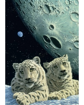 Puzzle Grafika - Schim Schimmel: Lair of the Snow Leopard, 2.000 piese (59810)