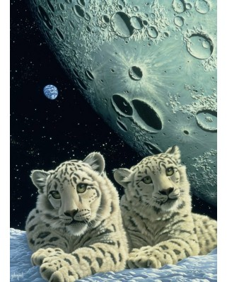 Puzzle Grafika - Schim Schimmel: Lair of the Snow Leopard, 2.000 piese (59813)