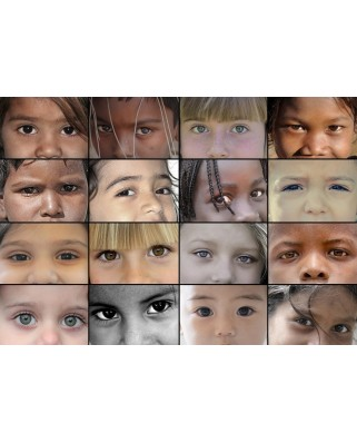 Puzzle Grafika - SOS Mediterranee - Eyes of Children around the World, 1.000 piese (55288)