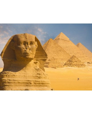 Puzzle Grafika - Sphinx and Pyramids at Giza, 300 piese (55595)