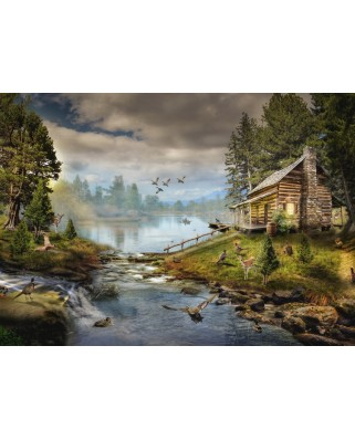 Puzzle Grafika - The Fisherman's Cabin, 500 piese (63501)