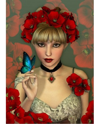 Puzzle Grafika - The Woman and the Butterfly, 1.000 piese (52238)