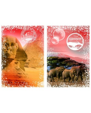 Puzzle Grafika - Travel around the World - Africa, Egypt and Kenya, 2.000 piese (58974)