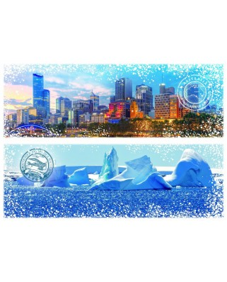 Puzzle Grafika - Travel around the World - Australia and Antarctica, 2.000 piese (59026)