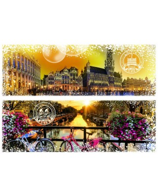 Puzzle Grafika - Travel around the World - Belgium and the Netherlands, 1.000 piese (59016)