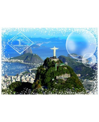 Puzzle Grafika - Travel around the World - Brazil, 1.000 piese (59008)