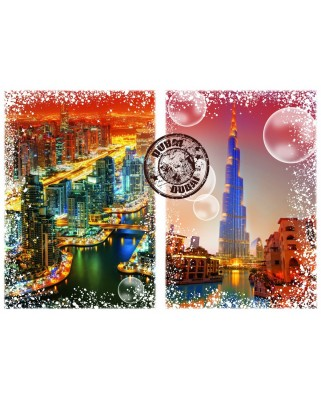 Puzzle Grafika - Travel around the World - Dubai, 1.000 piese (60105)
