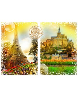Puzzle Grafika - Travel around the World - France, 1.000 piese (59093)