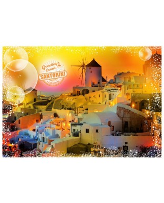 Puzzle Grafika - Travel around the World - Greece, 1.000 piese (58996)