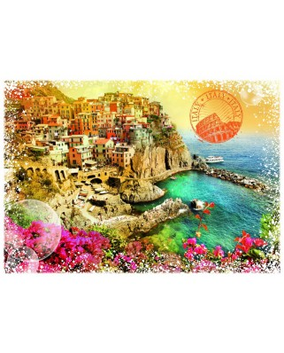 Puzzle Grafika - Travel around the World - Italy, 1.000 piese (59098)
