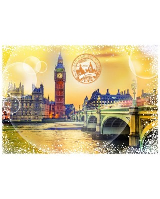 Puzzle Grafika - Travel around the World - United Kingdom, 1.000 piese (60102)