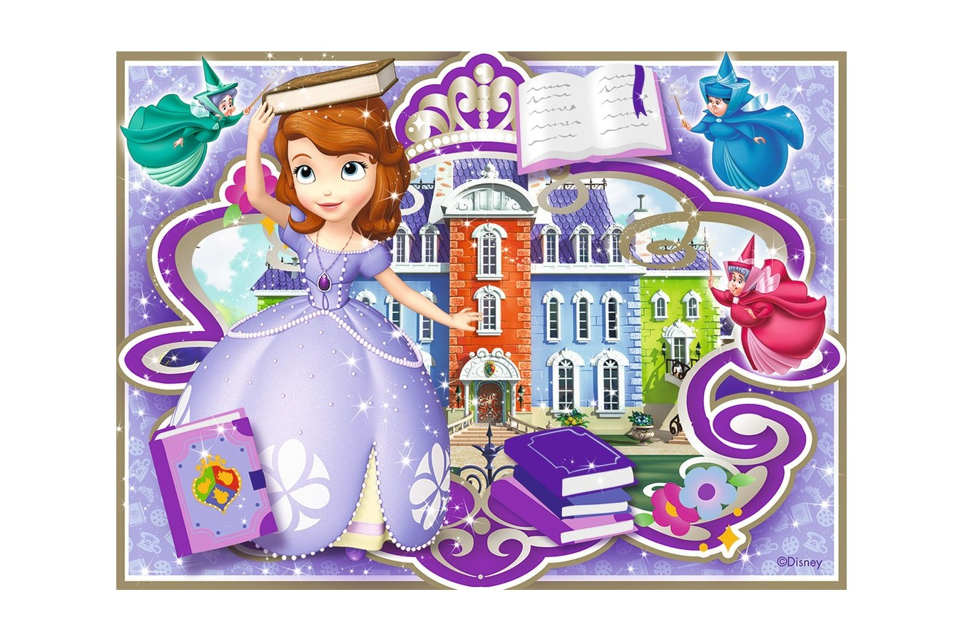 Puzzle Ravensburger - Printesa Sofia, 12/16/20/24 piese (07328)