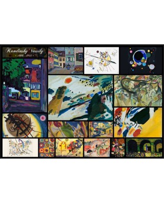 Puzzle Grafika - Vassily Kandinsky: Collage, 1.000 piese (50860)