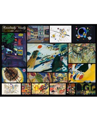 Puzzle Grafika - Vassily Kandinsky: Collage, 2.000 piese (50752)
