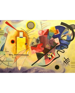 Puzzle Grafika - Vassily Kandinsky: Yellow - Red - Blue, 1925, 1.000 piese (47584)