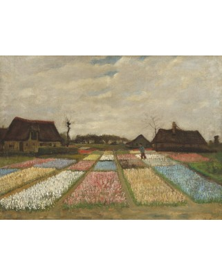 Puzzle Grafika - Vincent Van Gogh: Flower Beds in Holland, 1883, 2.000 piese (55145)