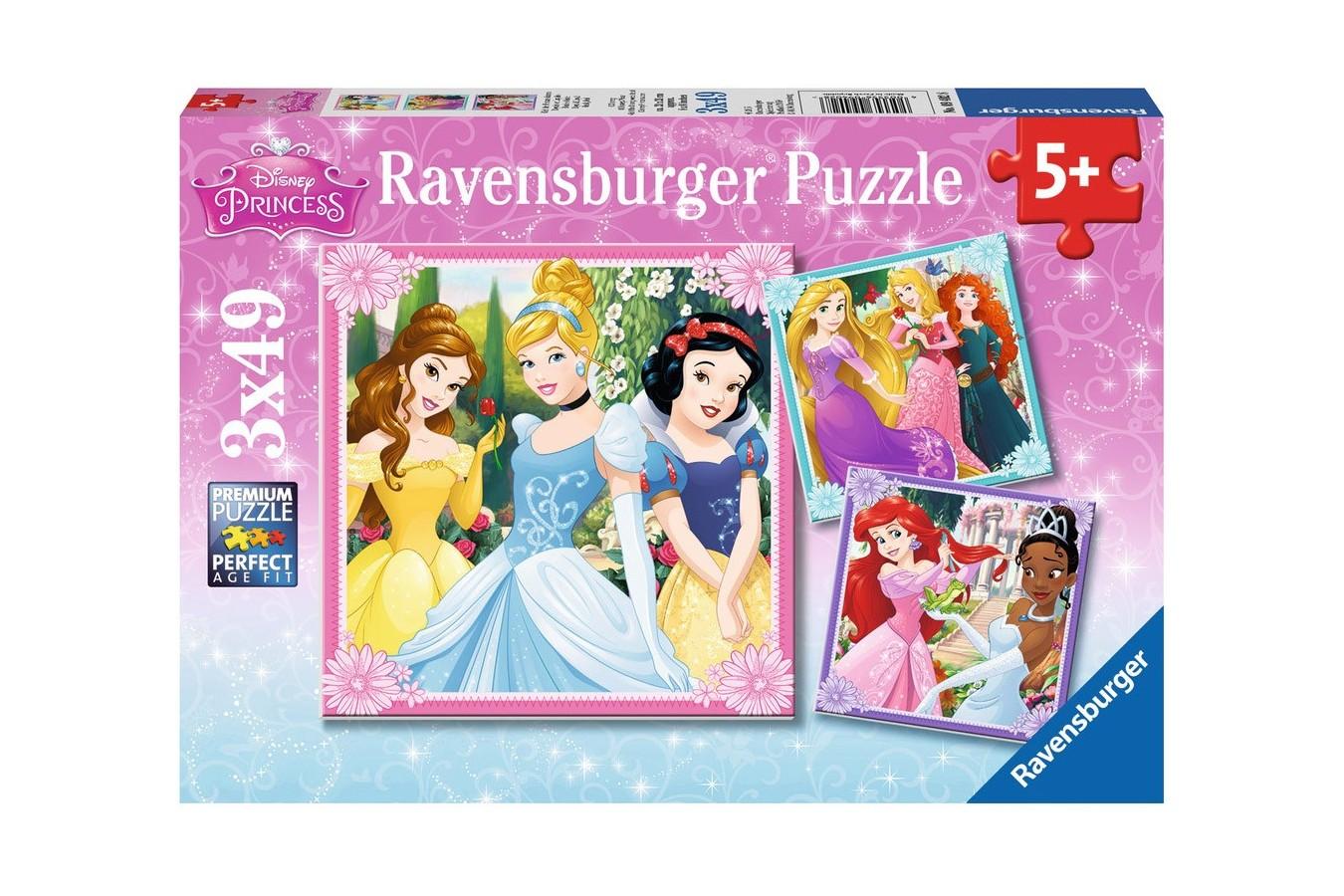 Puzzle Ravensburger - Printese Disney, 3x49 piese (09402)