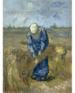 Puzzle Grafika - Vincent Van Gogh: Peasant woman binding sheaves (after Millet), 2.000 piese (50807)