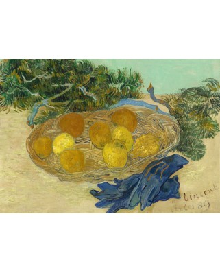 Puzzle Grafika - Vincent Van Gogh: Still Life of Oranges and Lemons with Blue Gloves, 1889, 1.000 piese (55139)