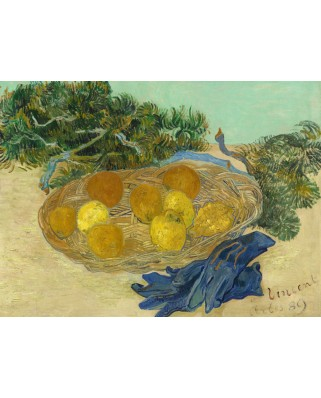 Puzzle Grafika - Vincent Van Gogh: Still Life of Oranges and Lemons with Blue Gloves, 1889, 2.000 piese (55138)