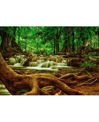 Puzzle Grafika - Waterfall in Forest, 1.000 piese (54768)