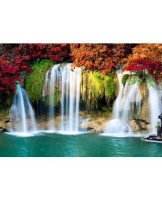 Puzzle Grafika - Waterfall in Forest, 1.000 piese (54876)